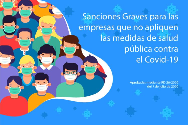 La administración anuncia sanciones graves para las empresas que no apliquen las medidas de salud pública contra el Covid19
